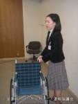 紀代表車椅子介助解説風景